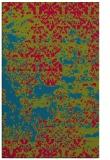 rug #1081950 |  blue-green damask rug