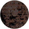 rug #1082202 | round black abstract rug