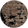 rug #1082210 | round brown damask rug