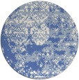 rug #1082242 | round blue traditional rug