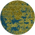 rug #1082274 | round green abstract rug