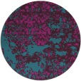 rug #1082278 | round blue-green abstract rug