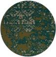 rug #1082310 | round brown damask rug