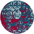 rug #1082314 | round red graphic rug