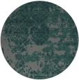 rug #1082326 | round green damask rug