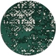 rug #1082330 | round green abstract rug