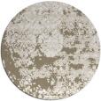 rug #1082354 | round mid-brown damask rug