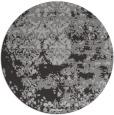 rug #1082410 | round red-orange graphic rug