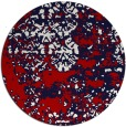 rug #1082446 | round red traditional rug