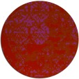 rug #1082458 | round red traditional rug