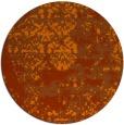 rug #1082462 | round red-orange graphic rug