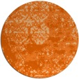 rug #1082466 | round red-orange damask rug