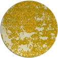 rug #1082510 | round yellow faded rug