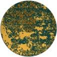 rug #1082522 | round yellow abstract rug