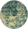 rug #1082526 | round yellow faded rug