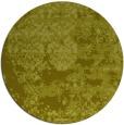 rug #1082530 | round light-green damask rug