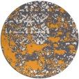 rug #1082558 | round light-orange faded rug