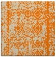 rug #1082930 | square orange damask rug