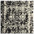 rug #1082954 | square black damask rug