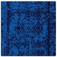 rug #1082962 | square blue damask rug