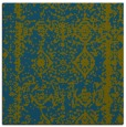 rug #1083010 | square blue-green faded rug