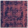 rug #1083026 | square blue-violet damask rug