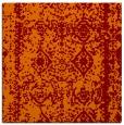 rug #1083134 | square red-orange damask rug