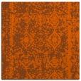 rug #1083206   square red-orange damask rug