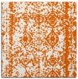 rug #1083210 | square red-orange damask rug