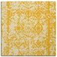 rug #1083246 | square yellow damask rug