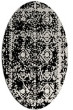 rug #1083302 | oval white faded rug
