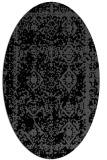 rug #1083306 | oval black traditional rug