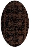 rug #1083314   oval brown damask rug