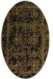 rug #1083318 | oval black traditional rug