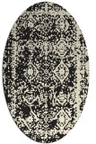 rug #1083322 | oval black graphic rug