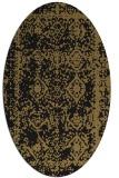 rug #1083326   oval brown damask rug