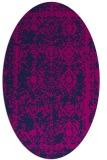 rug #1083334 | oval blue faded rug