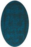 rug #1083366 | oval blue faded rug