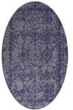 rug #1083390 | oval blue-violet damask rug