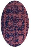 rug #1083394   oval blue-violet traditional rug