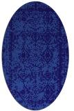 rug #1083402 | oval blue-violet traditional rug