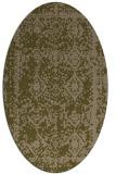 rug #1083414 | oval brown rug