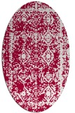 rug #1083418 | oval red damask rug
