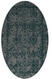rug #1083430 | oval blue-green rug