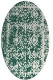 rug #1083434 | oval green traditional rug