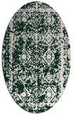 rug #1083436 | oval faded rug