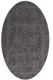 rug #1083450 | oval brown damask rug