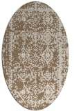rug #1083454 | oval beige traditional rug