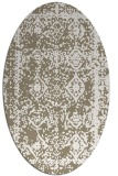 rug #1083458 | oval white faded rug