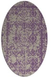 rug #1083482 | oval beige damask rug